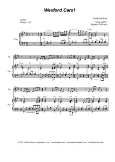 Wexford Carol: For french horn solo and piano by folklore