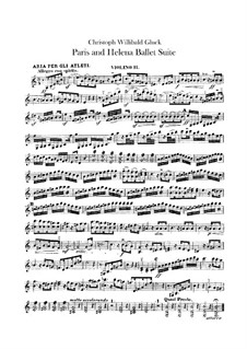 Ballet suite: Violin II parts by Christoph Willibald Gluck
