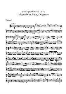 Iphigenia in Aulis, Wq.40: Overture – violins parts by Christoph Willibald Gluck