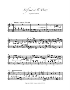 Sinfonia in E Minor: Sinfonia in E Minor by Stephen Smith