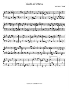 Gavotte in G Minor: Gavotte in G Minor by Mitch Boucher