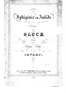 Iphigenia in Aulis, Wq.40: Piano score by Christoph Willibald Gluck