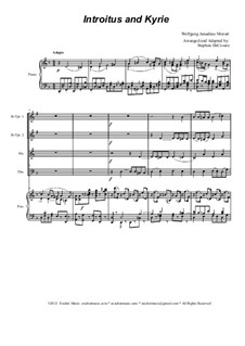 Introitus and Kyrie: For brass quartet and piano by Wolfgang Amadeus Mozart