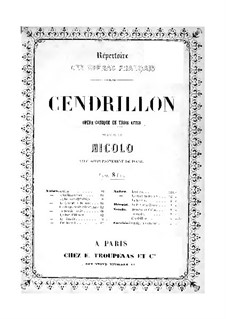 Cendrillon (Cinderella): For voices and piano by Nicolò Isouard