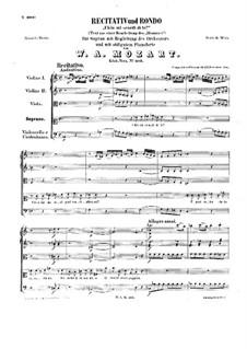 Ch'io mi scordi di te, K.505: Ch'io mi scordi di te by Wolfgang Amadeus Mozart