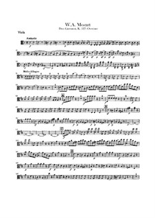 Overture: Viola part by Wolfgang Amadeus Mozart