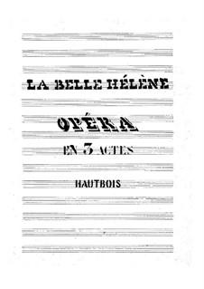La belle Hélène (The Beautiful Helen): Oboe part by Jacques Offenbach