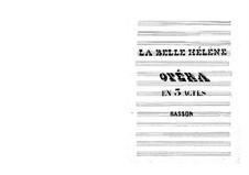 La belle Hélène (The Beautiful Helen): Bassoon part by Jacques Offenbach