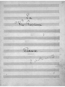 La vie parisienne (Parisian Life): Bassoon part by Jacques Offenbach