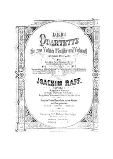 String Quartet No.7 in D Major 'The Maid of the Mill', Op.192 No.2: Parts by Joseph Joachim Raff