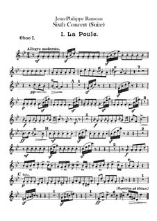 Harpsichord Suite in G Minor, RCT 6: For chamber orchestra – oboes parts by Jean-Philippe Rameau