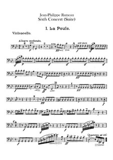 Harpsichord Suite in G Minor, RCT 6: For chamber orchestra – cello part by Jean-Philippe Rameau