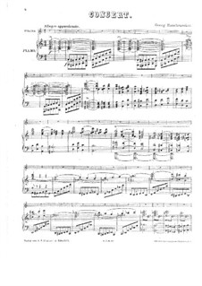 Violin Concerto in A Minor: Version for violin and piano by Georg Wilhelm Rauchenecker