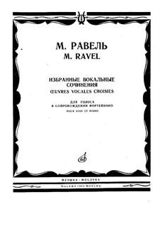 Deux Épigrammes de Clément Marot, M.21, 10: Piano score with vocal by Maurice Ravel