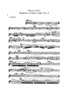 Daphnis et Chloé. Suite No.2, M.57b: Flute piccolo part by Maurice Ravel