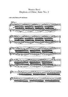 Daphnis et Chloé. Suite No.2, M.57b: Flutes part by Maurice Ravel