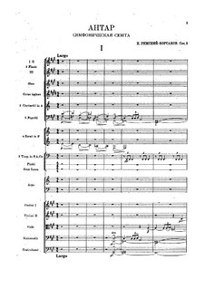 Symphony No.2 in F Sharp Minor 'Antar', Op.9: Full score by Nikolai Rimsky-Korsakov