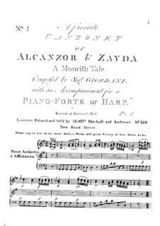 Alcanzor and Zayda: Alcanzor and Zayda by Tommaso Giordani