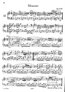 Minuets for Piano, Op. posth.: For a single performer by Franz Schubert