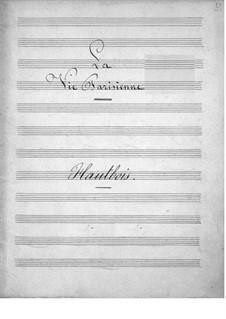 La vie parisienne (Parisian Life): Oboe part by Jacques Offenbach