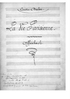 La vie parisienne (Parisian Life): Double bass part by Jacques Offenbach
