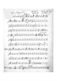 Les brigands (The Bandits): Percussion part by Jacques Offenbach