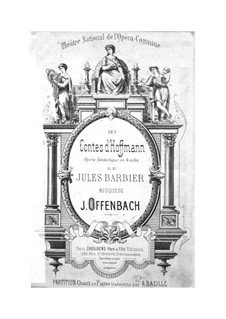 Complete Opera: Arrangement for voices and piano by Jacques Offenbach
