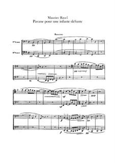 Pavane pour une infante défunte (Pavane for a Dead Princess), M.19: For orchestra – bassoons part by Maurice Ravel