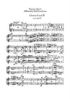 Miroirs for Orchestra, M.43a: Movement IV Alborada del gracioso – clarinets part by Maurice Ravel