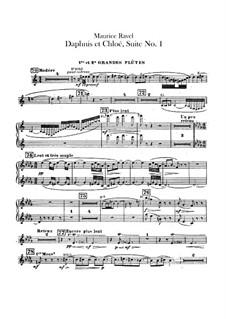 Daphnis et Chloé. Suite No.1, M.57a: Flutes parts by Maurice Ravel