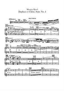 Daphnis et Chloé. Suite No.1, M.57a: Oboes and cor anglais parts by Maurice Ravel