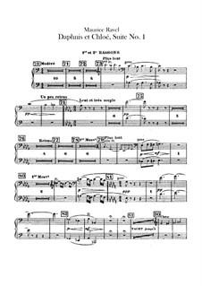 Daphnis et Chloé. Suite No.1, M.57a: Bassoons parts by Maurice Ravel