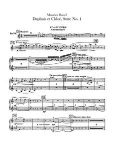 Daphnis et Chloé. Suite No.1, M.57a: French horns parts by Maurice Ravel