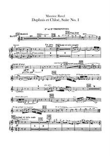 Daphnis et Chloé. Suite No.1, M.57a: Trumpets parts by Maurice Ravel
