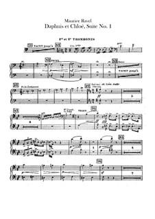 Daphnis et Chloé. Suite No.1, M.57a: Trombones and tuba parts by Maurice Ravel