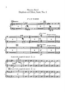 Daphnis et Chloé. Suite No.1, M.57a: Harps part by Maurice Ravel