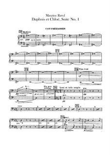 Daphnis et Chloé. Suite No.1, M.57a: Double bass part by Maurice Ravel