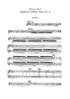 Daphnis et Chloé. Suite No.2, M.57b: Oboes and cor anglais parts by Maurice Ravel