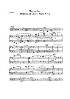 Daphnis et Chloé. Suite No.2, M.57b: Bassoons parts by Maurice Ravel