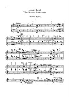 Valses nobles et sentimentales, M.61: Flutes part by Maurice Ravel