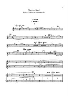 Valses nobles et sentimentales, M.61: Celesta part by Maurice Ravel