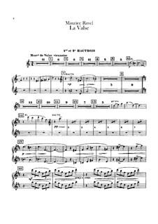 La valse. Choreographic Poem for Orchestra, M.72: Oboes and cor anglais parts by Maurice Ravel