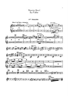 La valse. Choreographic Poem for Orchestra, M.72: Violin I part by Maurice Ravel