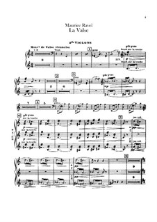 La valse. Choreographic Poem for Orchestra, M.72: Violin II part by Maurice Ravel