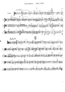 Autumn Leaves: Score for string orchestra – Viola part by Vladimir Ivanovich Rebikov