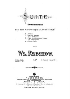 The Christmas. Suite, Op.21a: Full score by Vladimir Ivanovich Rebikov