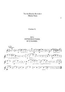 Mlada. Suite: French horns parts by Nikolai Rimsky-Korsakov