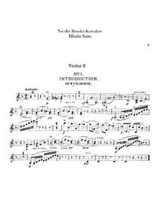 Mlada. Suite: Violin II part by Nikolai Rimsky-Korsakov