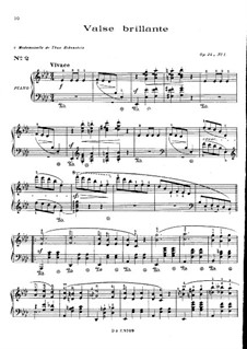 Waltzes, Op.34: No.1 in A Flat Major by Frédéric Chopin