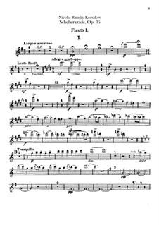 Scheherazade, Op.35: Flutes I, II parts by Nikolai Rimsky-Korsakov
